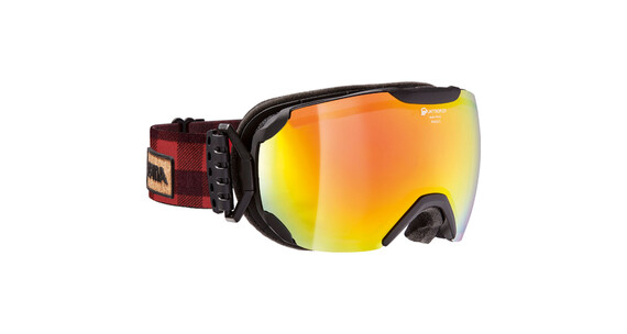 Alpina Pheos S QMM SPH Goggle S2 red spherical/black matt-red